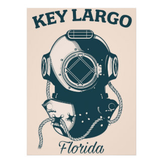 Key Largo Florida holiday poster