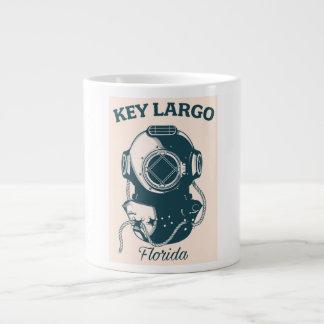 Key Largo Florida Nautical Diving travel poster Large Coffee Mug