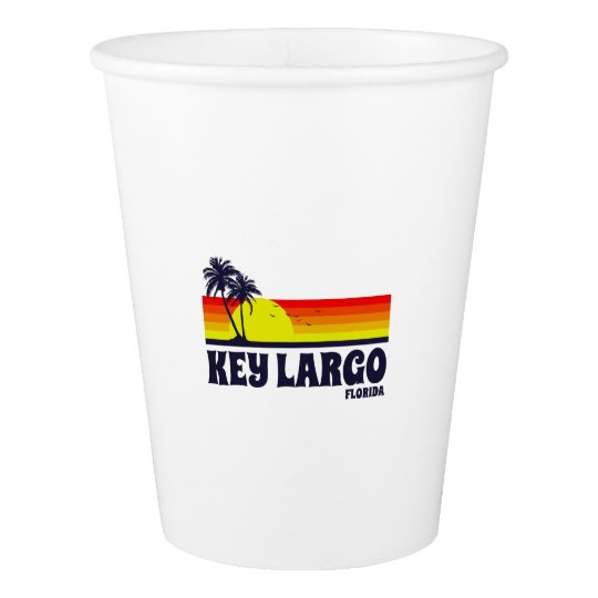Key Largo Florida Paper Cup