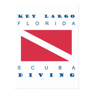 Key Largo Florida Scuba Dive Postcard