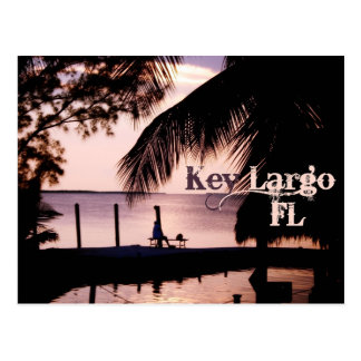 Key Largo Florida Sunset Postcard