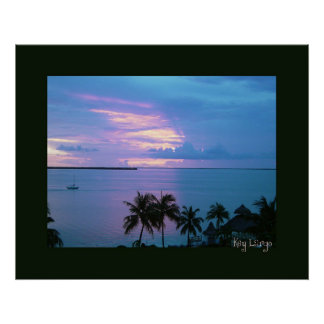 Key Largo in Black Frame Poster