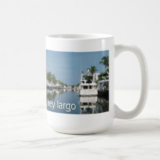 Key Largo scene with boats Coffee Mug