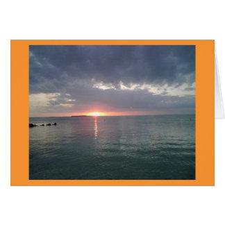 Key Largo Sunset 6 Card