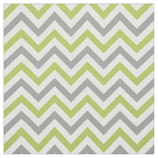 Key Lime, Dk Gray, White LG Chevron ZigZag Sz6 Fabric