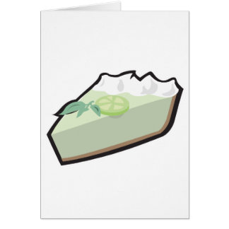 key lime pie greeting card