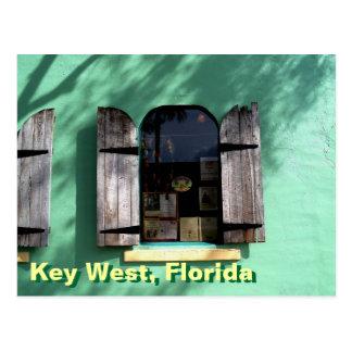 Key Lime Pie Key West Florida Window Postcard art