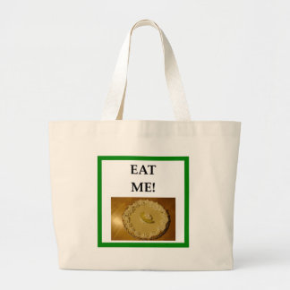 key lime pie large tote bag