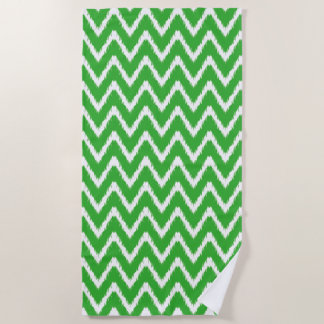 Key Lime Southern Cottage Chevrons Beach Towel