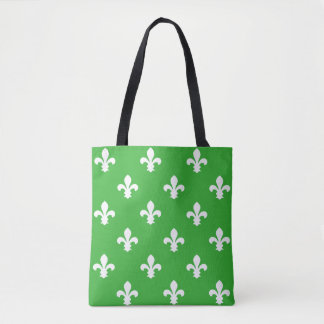 Key Lime Southern Cottage Fleur de Lys Tote Bag