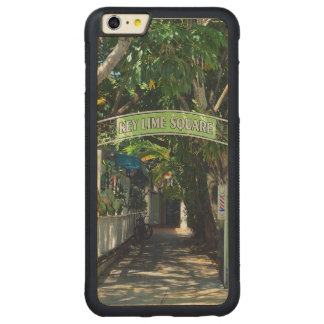 Key Lime Square Carved® Maple iPhone 6 Plus Bumper Case