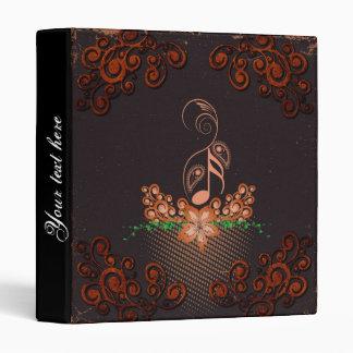Key notes with decorative floral elements vinyl binder