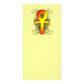 """Key of Life (Ankh)"" in Gold Bookmarks Card"