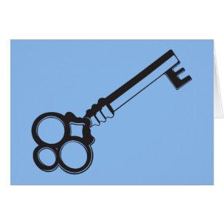Key on Blue Card