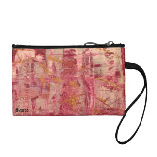 Key purse pink one gold change purses