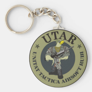 Key ring airsoft Ruby Basic Round Button Keychain