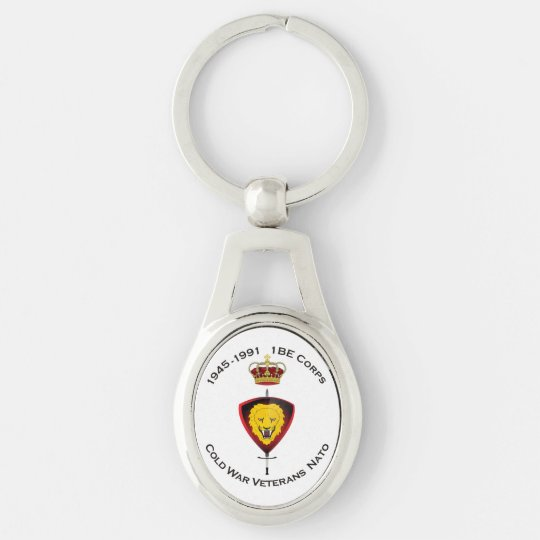Key-ring CWVNato Silver-Colored Oval Keychain