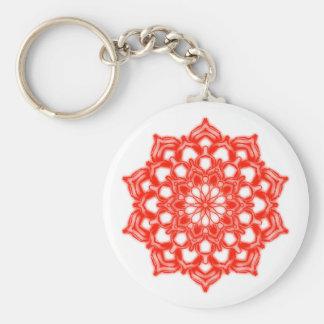 Key-ring Fleur Mandala Chakra red Keychain