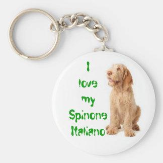 """Key ring - """"I love my Spinone Italiano""""."""
