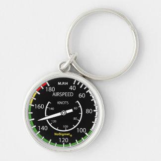 """Key-ring instrument plane: """"Anemometer """" Keychain"""