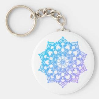 Key-ring Mandala Fleur Blue Keychain