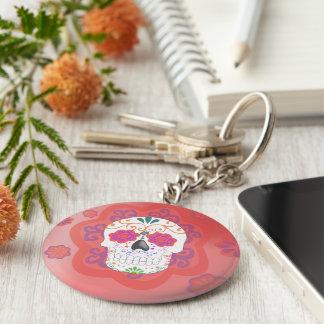 Key ring of Mexican skull