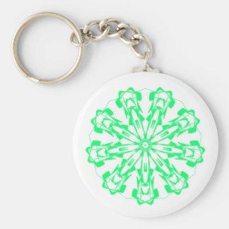 Key-ring Sweet Pastel Fractal Mandala 1 Keychain