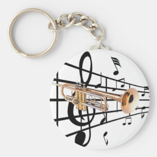 Key ring trumpet player