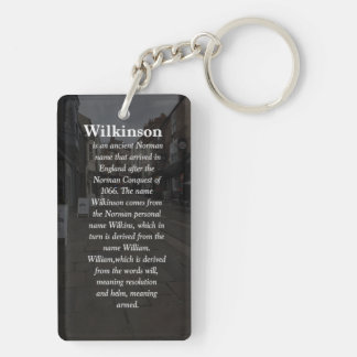 Key Ring With Family Name Meaning & Crest Double-Sided Rectangular Acrylic Keychain