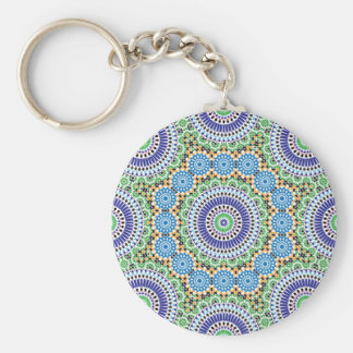 Key-ring with Mosaic Basic Round Button Keychain