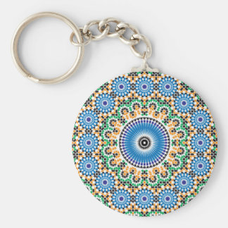 Key-ring with mosaic keychain
