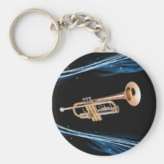 Key ring world of the trumpet player