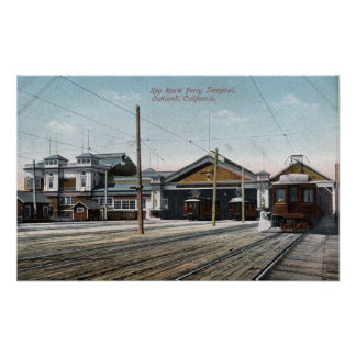 Key Route Ferry Terminal and Railway Poster