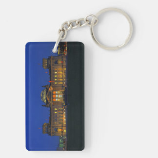 Key supporter Berlin Reichstag in the evening Double-Sided Rectangular Acrylic Keychain