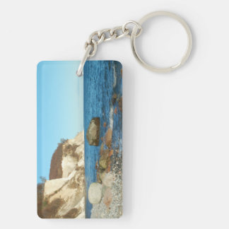 Key supporter chalk rock on reproaches Double-Sided rectangular acrylic keychain