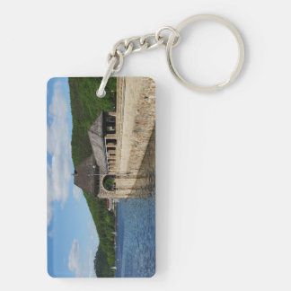 Key supporter Edersee with closed forest-hits a Double-Sided Rectangular Acrylic Keychain