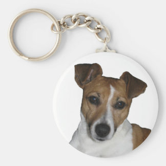 Key supporter Jack Russell Terrier Basic Round Button Keychain