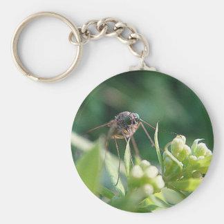 Key supporter mosquito basic round button keychain