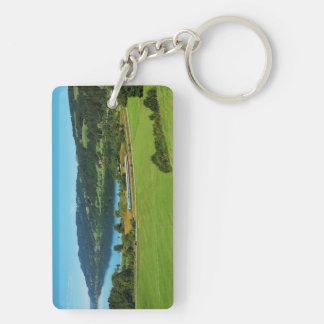Key supporter of large Alpsee Double-Sided Rectangular Acrylic Keychain