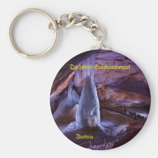 Key supporter, roof stone, ice cave, Austria Basic Round Button Keychain