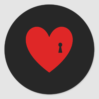 Key to my Heart Classic Round Sticker