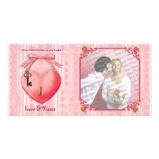 Key to My Heart Custom Photo Card