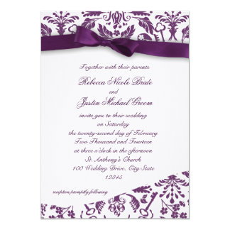 Key to my Heart Damask with Bow Card