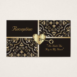Key to my Heart Reception Cards
