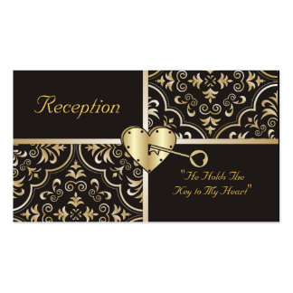 Key to my Heart Reception Cards Business Card Template