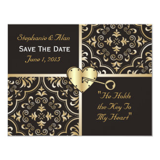 Key to My Heart Save The Date Card