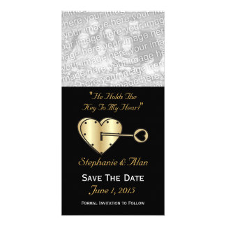 Key To My Heart Save The Date PhotoCards Customized Photo Card