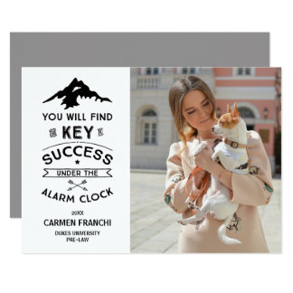 Key to Success Humorous Graduation Invitation