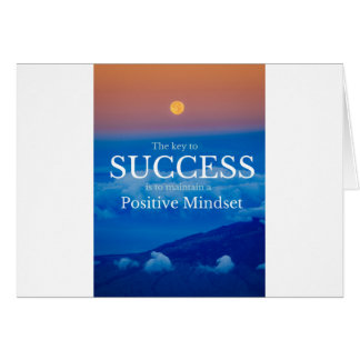 Key to Success Inspirational Quote Card