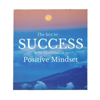 Key to Success Inspirational Quote Notepad